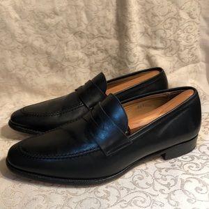 Jack Erwin Morton Leather Penny Loafers Dress Shoe